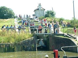 Foxton Locks canal locks