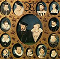François Clouet - Henri II of Valois and Caterina de' Medici, Surrounded by Members of Their Family - WGA05074.jpg