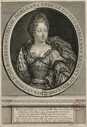 Françoise Marie de Bourbon - Françoise Marie as she appeared during the Regency; by Etienne Jahandier Desroches