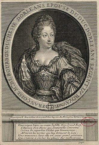 Françoise Marie de Bourbon - Françoise Marie as she appeared during the Regency; by Etienne Jahandier Desroches