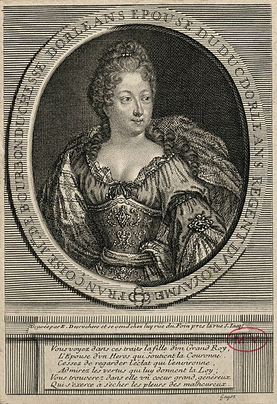 Francoise Marie as she appeared during the Regency; by Etienne Jahandier Desroches Francoise-Marie de Bourbon par Desrochers, Etienne Jahandier,.jpg