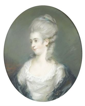 Robert Lovell Gwatkin - Pastel portrait of Theophila Palmer by Frances Reynolds