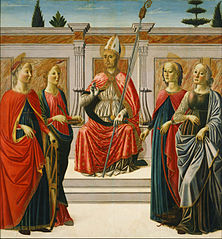 St. Nicolas and Sts. Catherine, Lucy, Margaret and Apollonia
