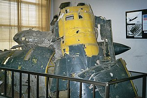 1960 U-2 incident - Part of the U-2 wreckage on exposition at Central Armed Forces Museum in Moscow.