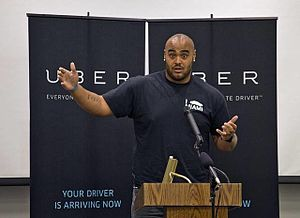 A. J. Francis - Francis speaking at an Uber event in 2015