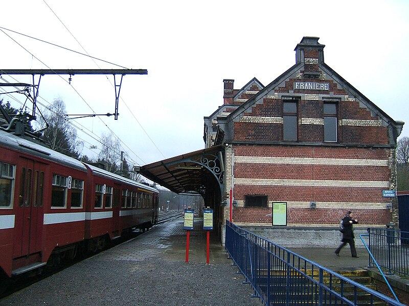 Franière, Belgium, railway station