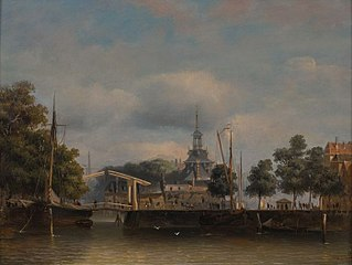 Ooster Oudehoofdpoort, gezicht vanaf de Wijnhaven (Punt) in de richting van de Oude Haven en Haringvliet
