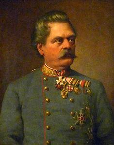 Il generale Franz Kuhn von Kuhnenfeld in un ritratto del 1890 eseguito da Ludwig Ferdinand Graf
