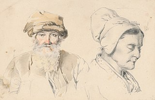 Study of Old Man and Woman