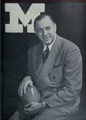 History of Michigan Wolverines football in the Crisler years - Image: Fritz Crisler