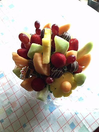 Gift basket - Fruit bouquet from Edible Arrangements.