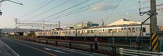 Fukushima Kōtsū Iizaka Line - Iizaka Line's yard at Sakuramizu