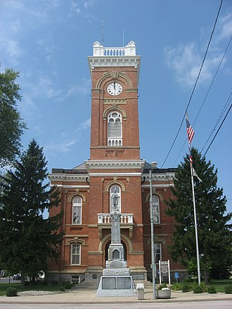 Fulton County, Ohio - Image: Fulton County Courthouse in Wauseon, front