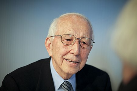 The Japanese architect Fumihiko Maki at MIT Media Lab.
