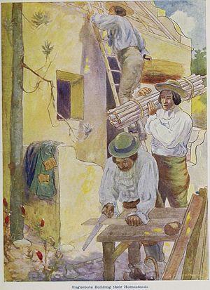 Huguenots in South Africa - Huguenots building their homesteads