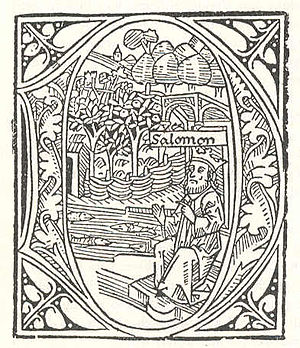 Günther Zainer - Initial from the German Bible, printed by Zainer in Augsburg in 1477