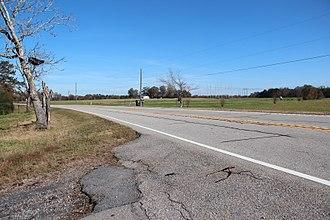 Livingston, Georgia - Georgia State Route 100 in Livingston
