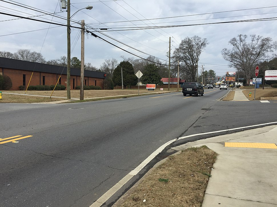 GA SR 61 in Cartersville, Feb 2017
