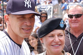 Joe Girardi - Yankees Manager Joe Girardi with General Ann E. Dunwoody before the N.Y. Mets vs. N.Y. Yankees game, June 14, 2009.
