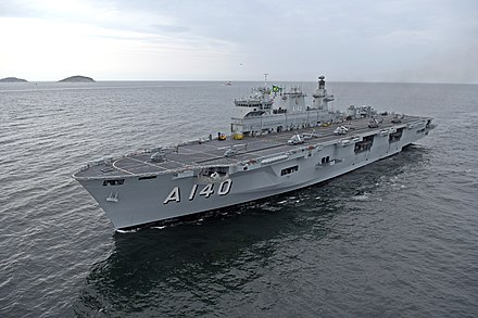 The Brazilian aircraft carrier Atlântico