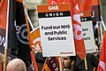 GMB Union banner at a demonstration in 2018.jpg
