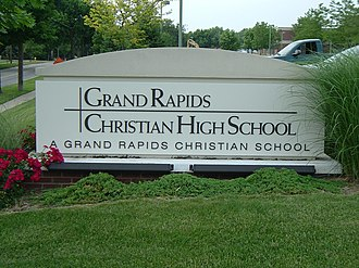 Grand Rapids Christian High School - Image: GRCH Ssign