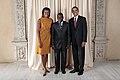 Gabriel Ntisezerana with Obamas.jpg