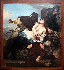 Scène de l'inquisition en Espagne