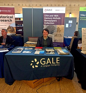 Gale (publisher) - Gale at the University of London School of Advanced Study History Day, October 2017.