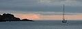 Galizia - Playa de estorde Barca al Tramonto - panoramio.jpg