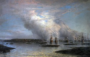 Battle of Gangut - The Battle of Gangut, by Aleksey Bogolyubov