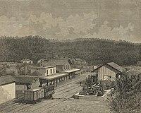 Gare de Caide nos primeiros anos - Occidente 179 1883.jpg