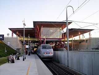 railway station in Valence, France