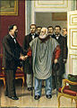 Garibaldi visiting Vittorio Emanuele in Rome. The final discussion between the two authors of the Risorgimento.jpg