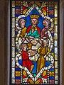 Gars – Gertrudskirche - gotische Glasfenster - Das Gastmahl des Herodes.jpg