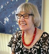 Gathie Falk, candid, Dec 2010.jpg