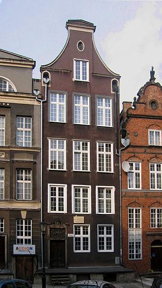 Arthur Schopenhauer - Schopenhauer's birthplace house, ul. Św. Ducha (formerly Heiligegeistgasse)