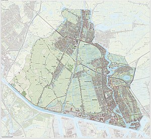 Zaanstad - Dutch Topographic map of Zaanstad, 2014