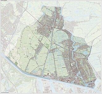 Zaanstad - Dutch Topographic map of Zaanstad, 2014