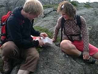Geocaching outdoor recreational activity