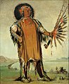 George Catlin - Ha-na-tá-nu-maúk, Wolf Chief, Head Chief of the Tribe - 1985.66.127 - Smithsonian American Art Museum.jpg