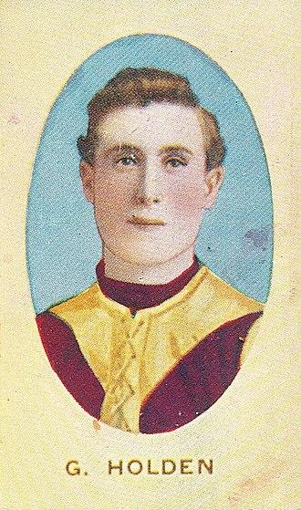 George Holden (Australian rules footballer) - Cigarette card of Holden in 1910