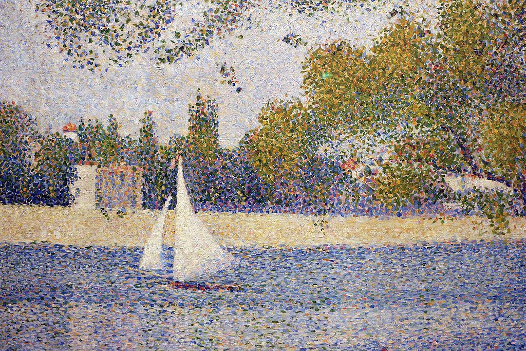 Georges seurat, la senna alla grande-jatte, 1888, 02 barca