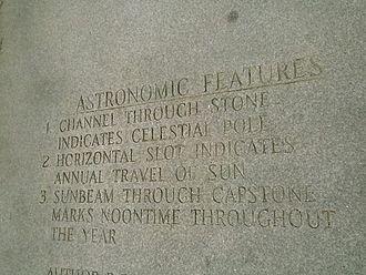 """Georgia Guidestones - The guidestones' """"Astronomic Features"""""""