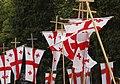 Georgian flags on Georgian Orthodox flagpoles.jpg