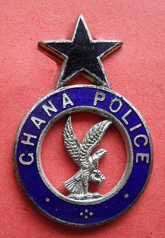 Ghana Police Service - Image: Ghana Police Service Badge