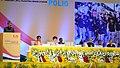 "Ghulam Nabi Azad addressing at a function to celebrate ""India's Victory Over Polio"", in New Delhi. The President, Shri Pranab Mukherjee, the Prime Minister, Dr. Manmohan Singh.jpg"