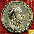 Giampaolo poggini, medaglia di anna d'austria, moglie di fil II, 1570 (argento).JPG