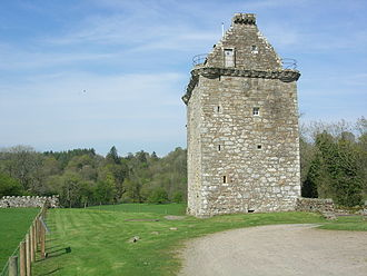 Scots' Dike - Gilnockie Tower lies within the old Debatable land, near Canonbie.