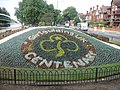 Girlguides UK centenary flower arrangement.JPG